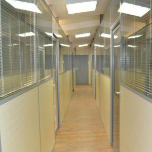 офисные перегородки с жалюзи для офиса на Пятницкой