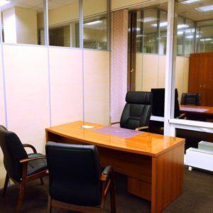 комбинированные перегородки для компании Интегральные офисные системы
