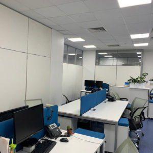 комбинированные эконом перегородки в офис
