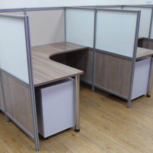 комбинированные мобильные перегородки для офиса