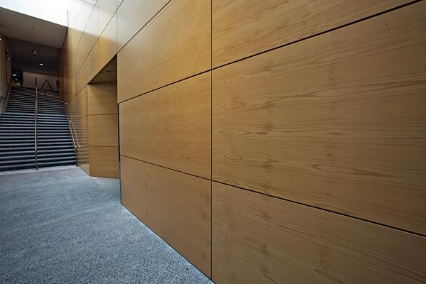 Стеновые панели для офиса из шпона